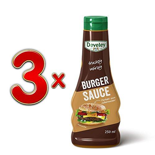 Develey fruchtig würzige Burger Sauce, 3er Set (3x250ml)
