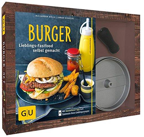 Burger-Set: mit antihaftbeschichteter Burgerpresse aus Aluguss (GU Buch plus)