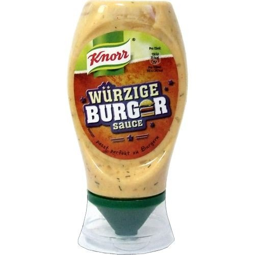 Knorr würzige Burgersauce Grillsoßen-Variation (250ml Squeezer Flasche)